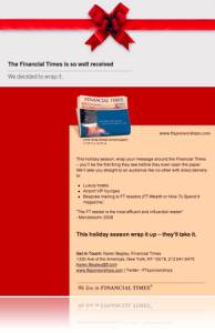 Financial Times Wrap It Campaign